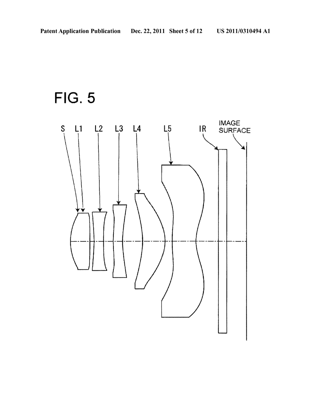 IMAGE PICKUP LENS FOR SOLID-STATE IMAGE PICKUP ELEMENT - diagram, schematic, and image 06