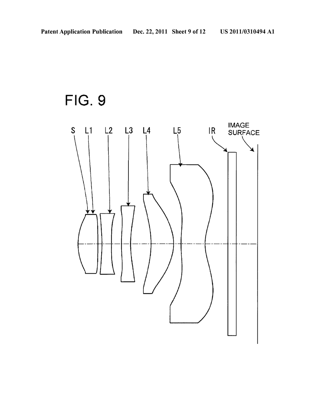 IMAGE PICKUP LENS FOR SOLID-STATE IMAGE PICKUP ELEMENT - diagram, schematic, and image 10