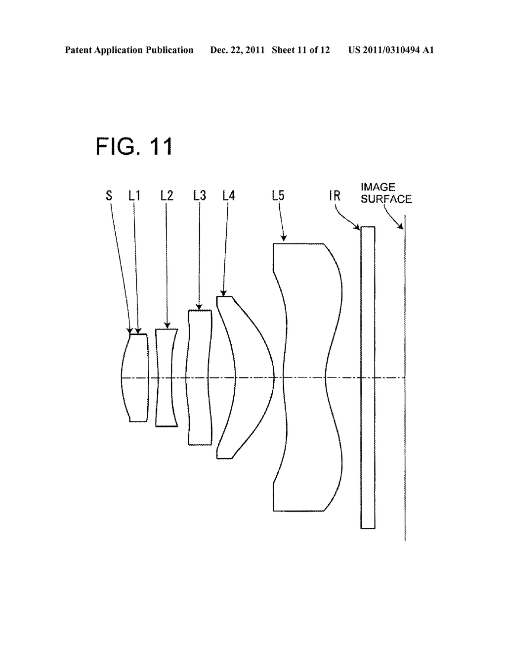 IMAGE PICKUP LENS FOR SOLID-STATE IMAGE PICKUP ELEMENT - diagram, schematic, and image 12