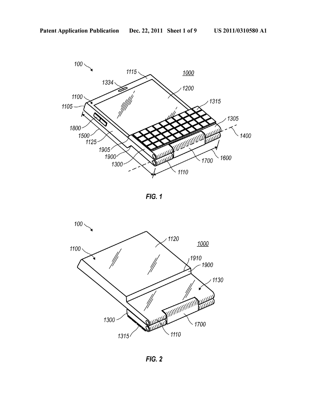 MOBILE DEVICE WITH A FLIP-AROUND KEYBOARD - diagram, schematic, and image 02