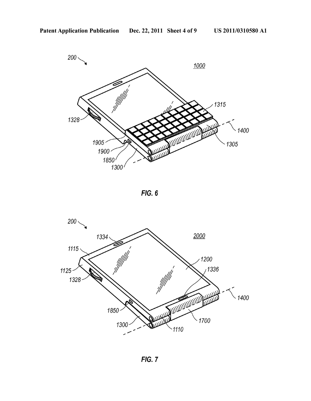MOBILE DEVICE WITH A FLIP-AROUND KEYBOARD - diagram, schematic, and image 05