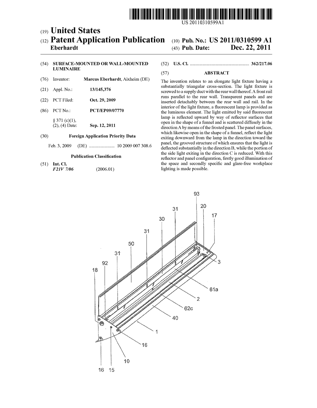 SURFACE-MOUNTED OR WALL-MOUNTED LUMINAIRE - diagram, schematic, and image 01