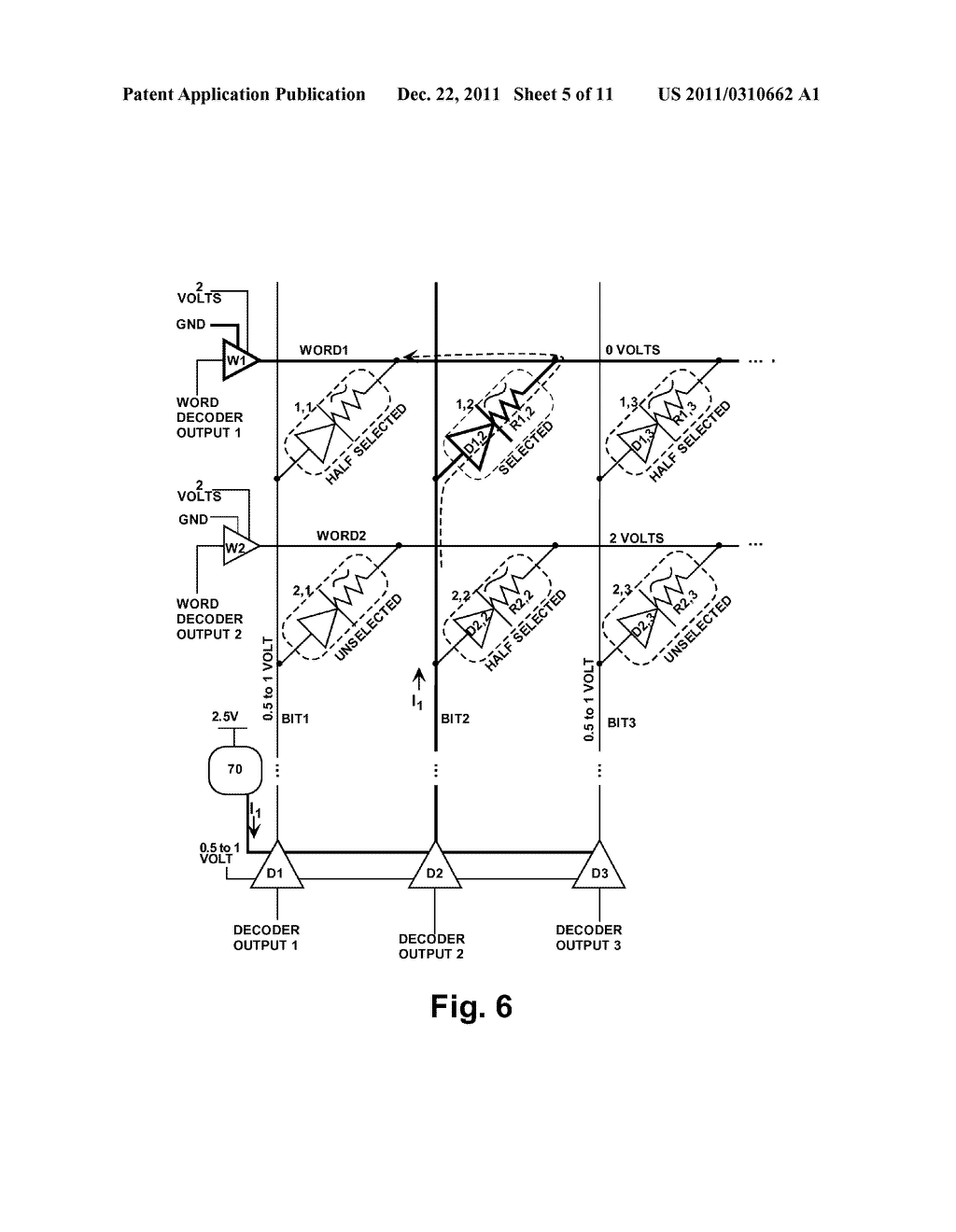 STRUCTURE AND METHOD FOR BIASING PHASE CHANGE MEMORY ARRAY FOR RELIABLE     WRITING - diagram, schematic, and image 06