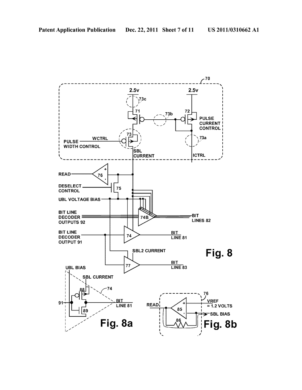 STRUCTURE AND METHOD FOR BIASING PHASE CHANGE MEMORY ARRAY FOR RELIABLE     WRITING - diagram, schematic, and image 08