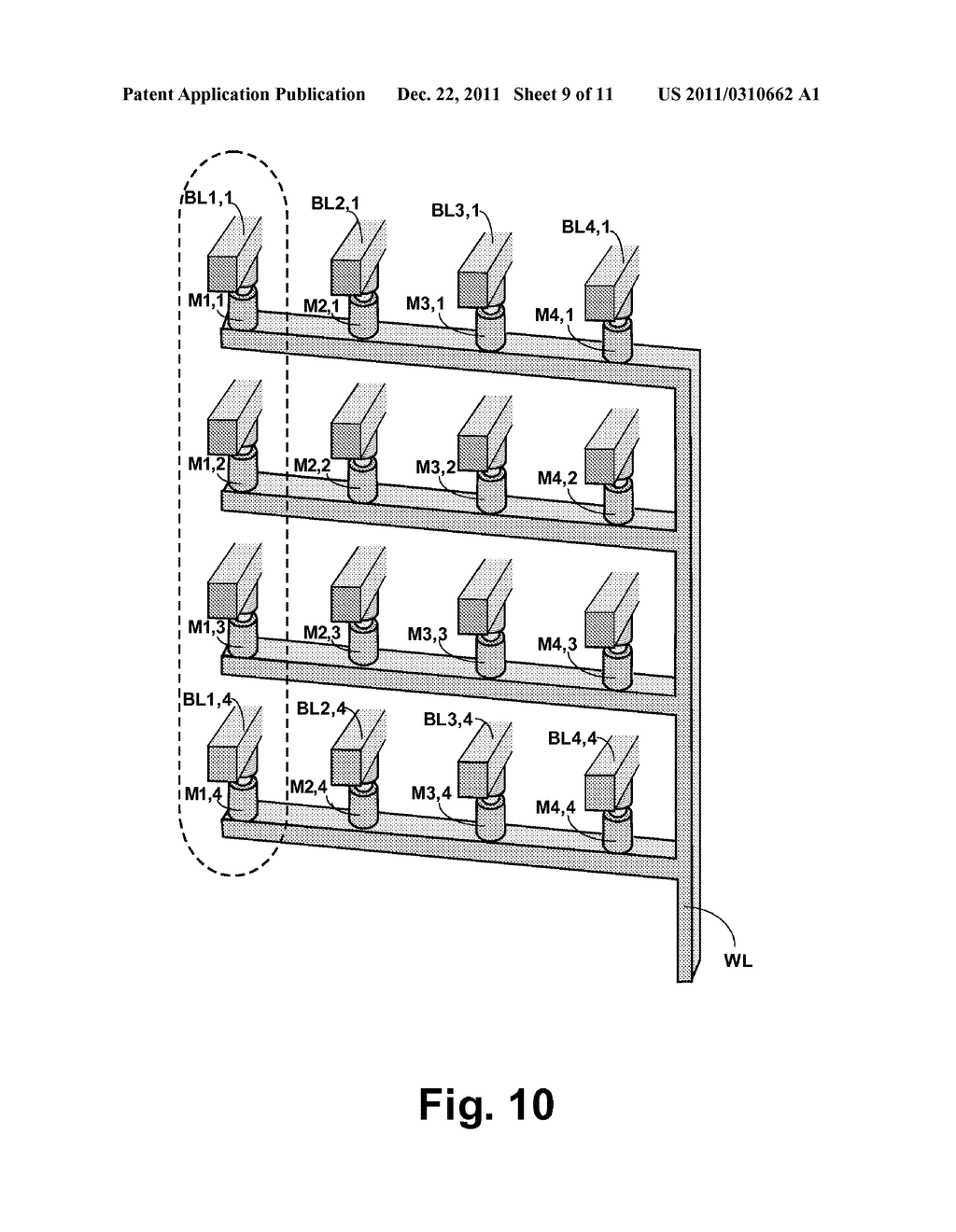 STRUCTURE AND METHOD FOR BIASING PHASE CHANGE MEMORY ARRAY FOR RELIABLE     WRITING - diagram, schematic, and image 10