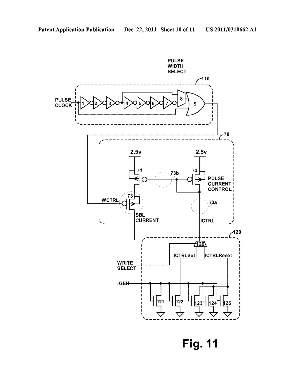 STRUCTURE AND METHOD FOR BIASING PHASE CHANGE MEMORY ARRAY FOR RELIABLE     WRITING - diagram, schematic, and image 11
