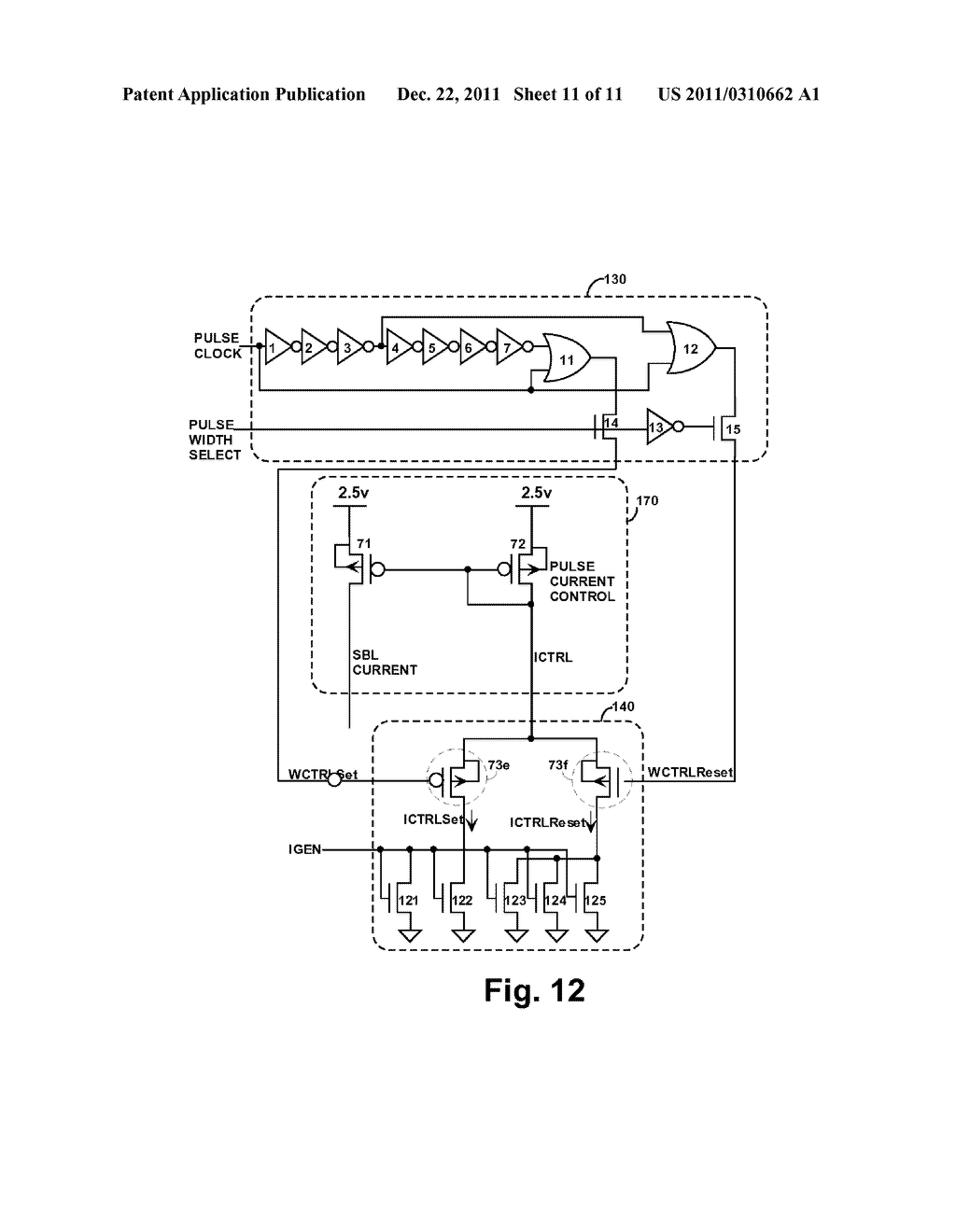 STRUCTURE AND METHOD FOR BIASING PHASE CHANGE MEMORY ARRAY FOR RELIABLE     WRITING - diagram, schematic, and image 12