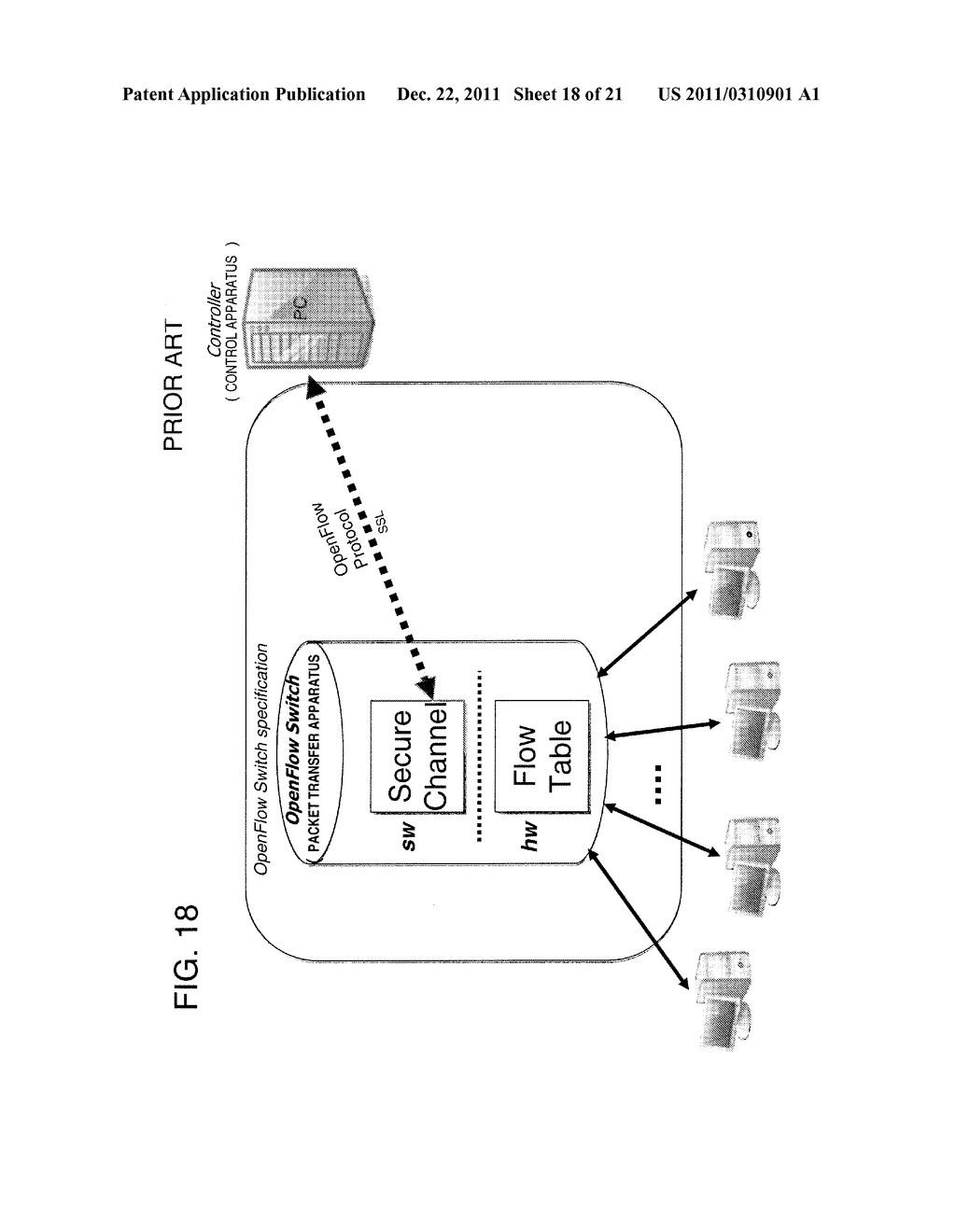 PACKET FORWARDING APPARATUS, COMMUNICATION SYSTEM, PROCESS RULE UPDATE     METHOD, AND PROGRAM - diagram, schematic, and image 19