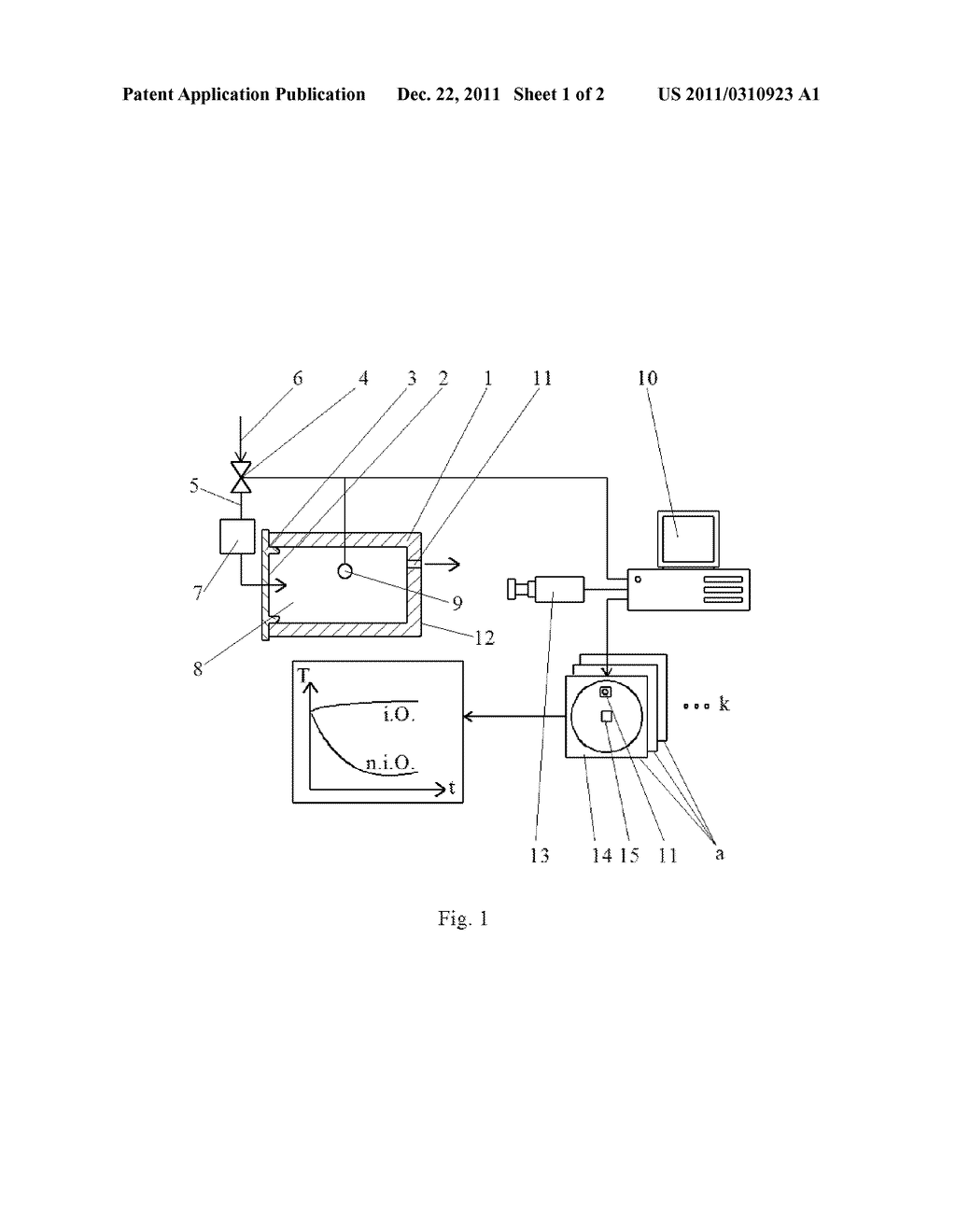 METHOD FOR NON-DESTRUCTIVE TESTING OF AT LEAST PARTIALLY OPEN HOLLOW     COMPONENTS OR SYSTEM COMPONENTS FOR TIGHTNESS IN SERIES PRODUCTION - diagram, schematic, and image 02