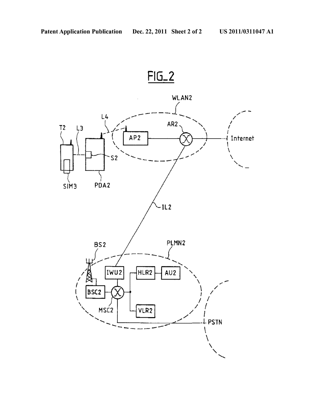 METHOD OF MAKING SECURE A LINK BETWEEN A DATA TERMINAL AND A DATA     PROCESSING LOCAL AREA NETWORK, AND A DATA TERMINAL FOR IMPLEMENTING THE     METHOD - diagram, schematic, and image 03