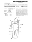 Portable hand-held container for dispensing a food mixture diagram and image