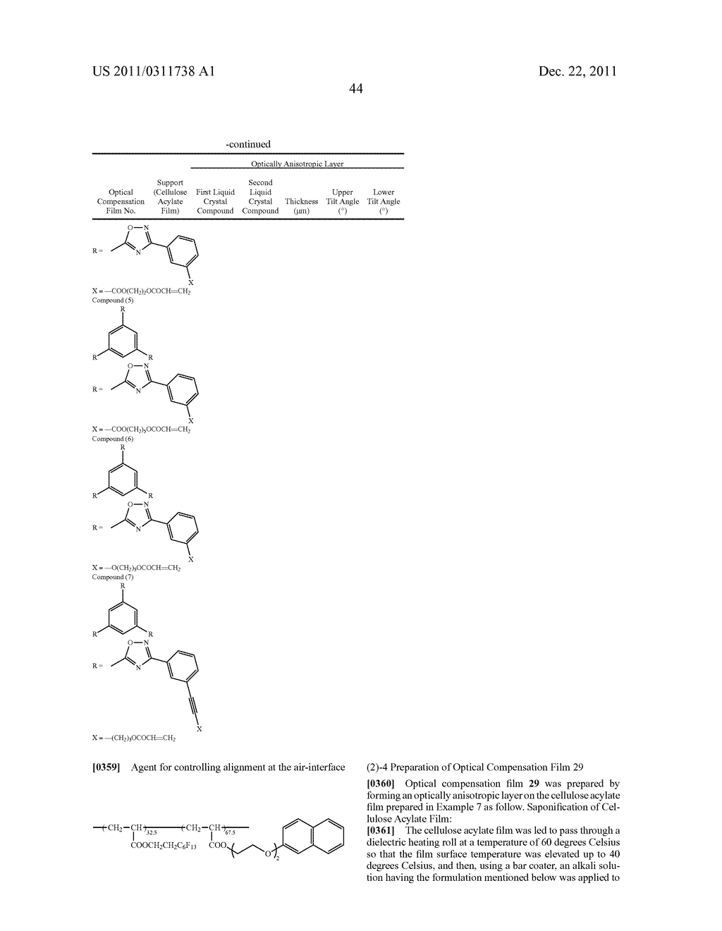 Process of producing cellulose acylate film, cellulose acylate film,     polarizing plate liquid crystal display device and optical compensation     film - diagram, schematic, and image 46