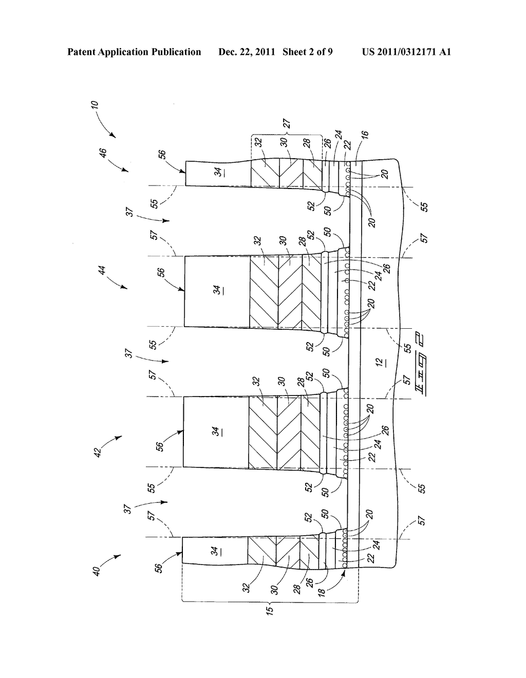Methods Of Forming Integrated Circuitry Comprising Charge Storage     Transistors - diagram, schematic, and image 03