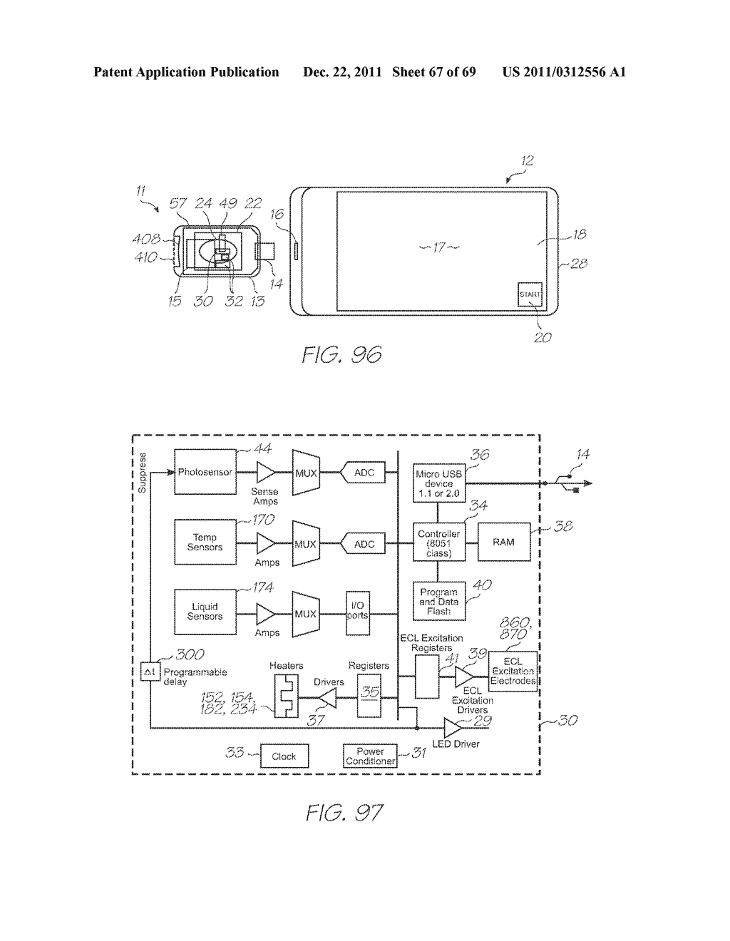 MICROFLUIDIC DEVICE WITH TRIGGER PHOTODIODE IN EACH HYBRIDIZATION CHAMBER - diagram, schematic, and image 68