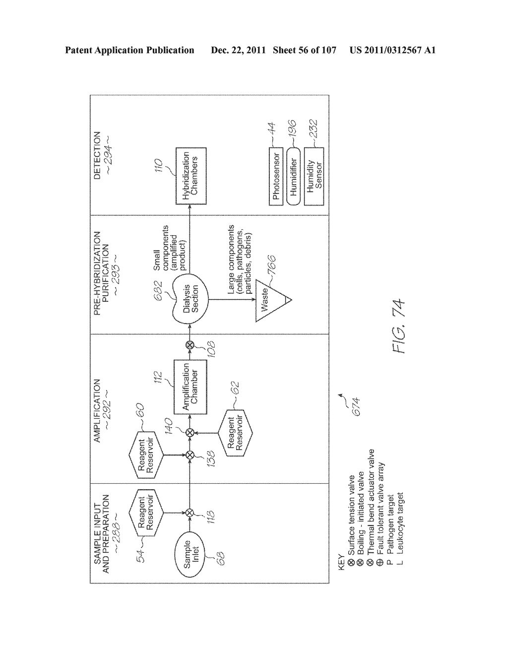 LOC DEVICE FOR ELECTROCHEMILUMINESCENT DETECTION OF TARGET NUCLEIC ACID     SEQUENCES USING HYBRIDIZATION CHAMBER ARRAY AND NEGATIVE CONTROL CHAMBER     WITHOUT PROBES - diagram, schematic, and image 57