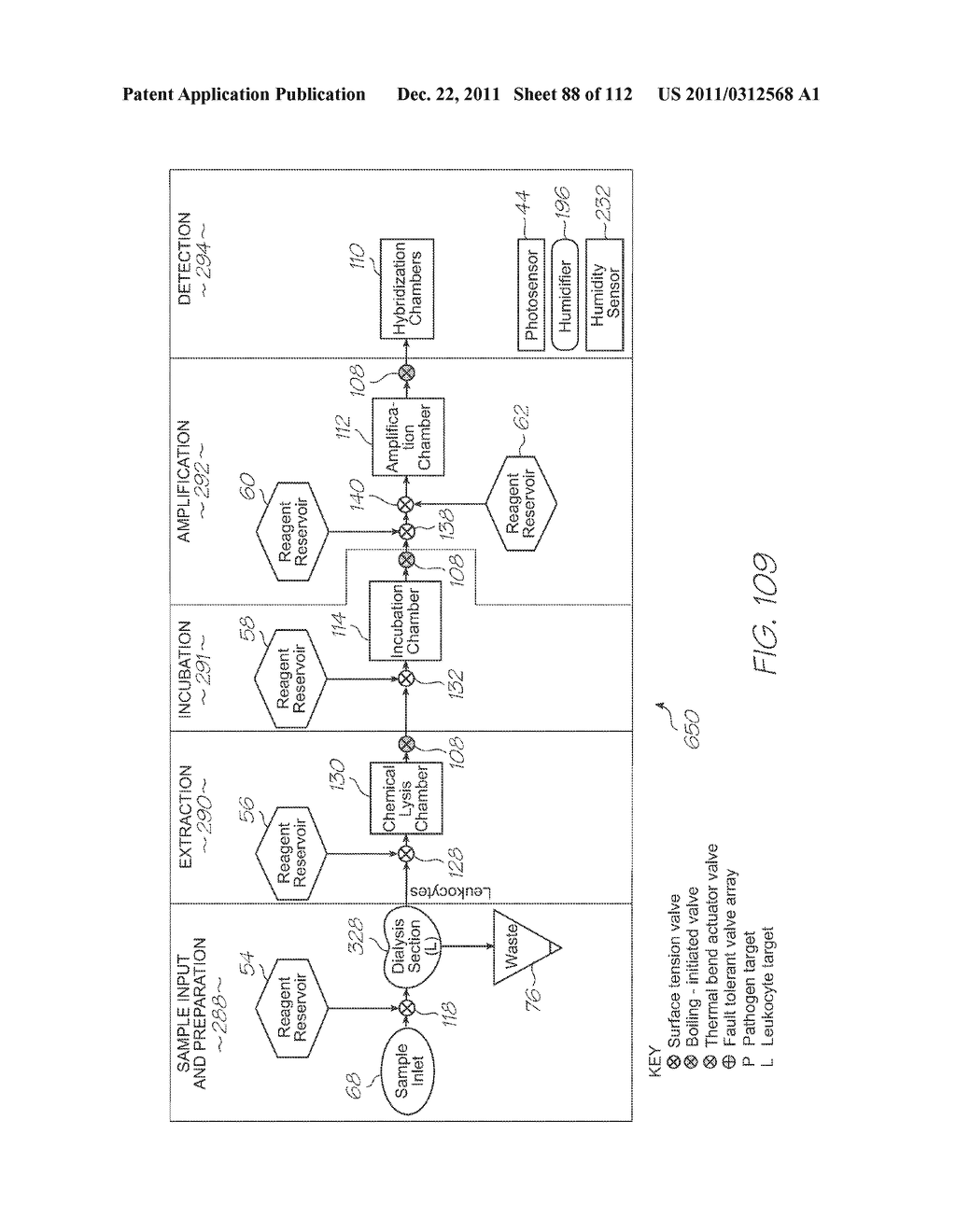 LOC DEVICE FOR GENETIC ANALYSIS WITH DIALYSIS, CHEMICAL LYSIS, INCUBATION     AND TANDEM NUCLEIC ACID AMPLIFICATION - diagram, schematic, and image 89