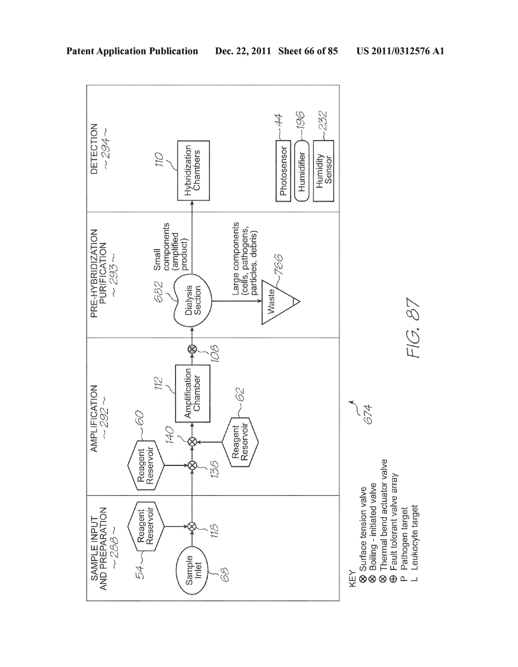 GENETIC ANALYSIS LOC DEVICE FOR MULTI-STAGE AMPLIFICATION OF NUCLEIC ACID     SEQUENCES - diagram, schematic, and image 67