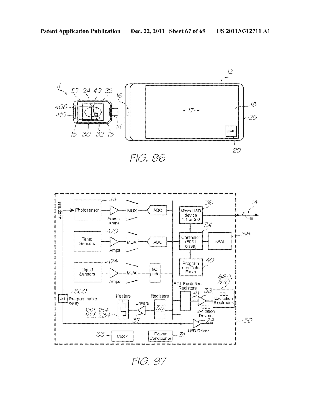 MICROFLUIDIC DEVICE WITH CONTROLLABLE SHUNTS PERIPHERAL TO INTEGRATED     PHOTODIODES - diagram, schematic, and image 68