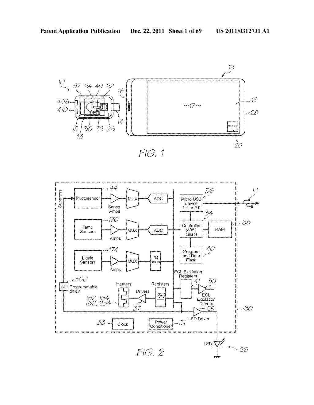 MICROFLUIDIC DEVICE WITH LARGE ANGLE OF COLLECTION OF EMISSION LIGHT - diagram, schematic, and image 02