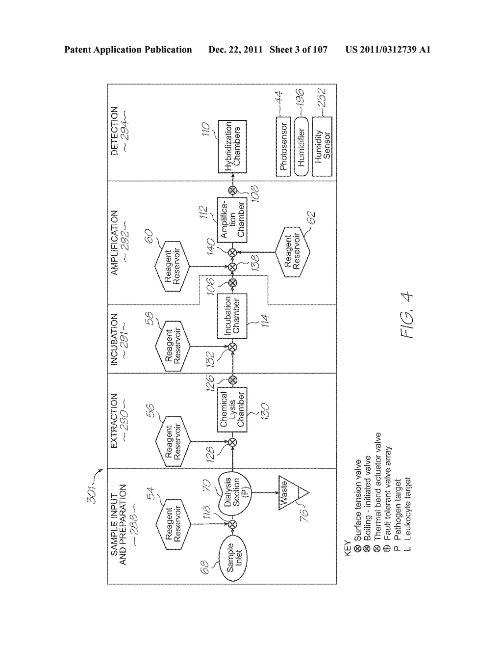 SINGLE-USE TEST MODULE FOR PCR AMPLIFICATION OF TARGETS AND     ELECTROCHEMILUMINESCENT DETECTION OF TARGETS - diagram, schematic, and image 04