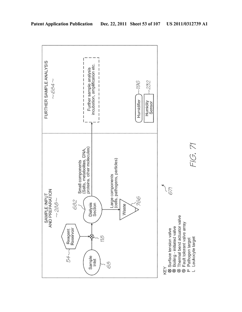 SINGLE-USE TEST MODULE FOR PCR AMPLIFICATION OF TARGETS AND     ELECTROCHEMILUMINESCENT DETECTION OF TARGETS - diagram, schematic, and image 54