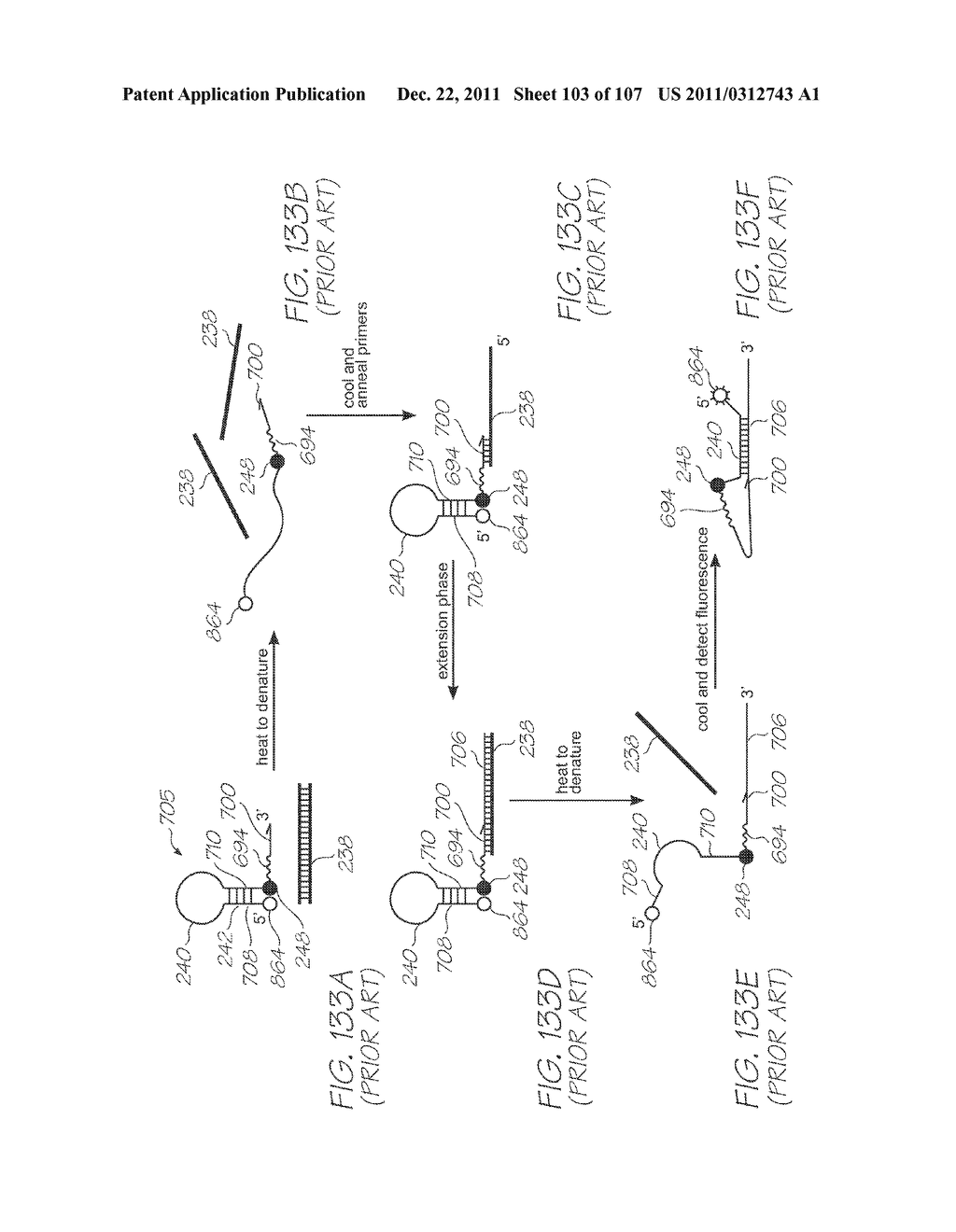 LOC DEVICE FOR DETECTION OF TARGET NUCLEIC ACID SEQUENCES USING ELECTRODES     CONFIGURED FOR ELECTROCHEMILUMINESCENCE OF LUMINOPHORES WITHOUT A     COREACTANT - diagram, schematic, and image 104