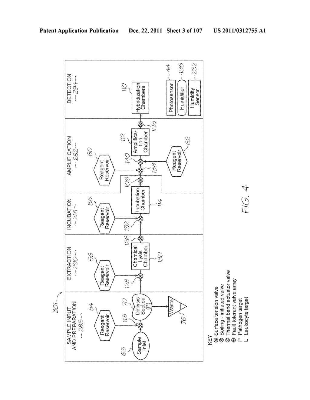 TEST MODULE WITH CHEMICAL LYSIS SECTION - diagram, schematic, and image 04