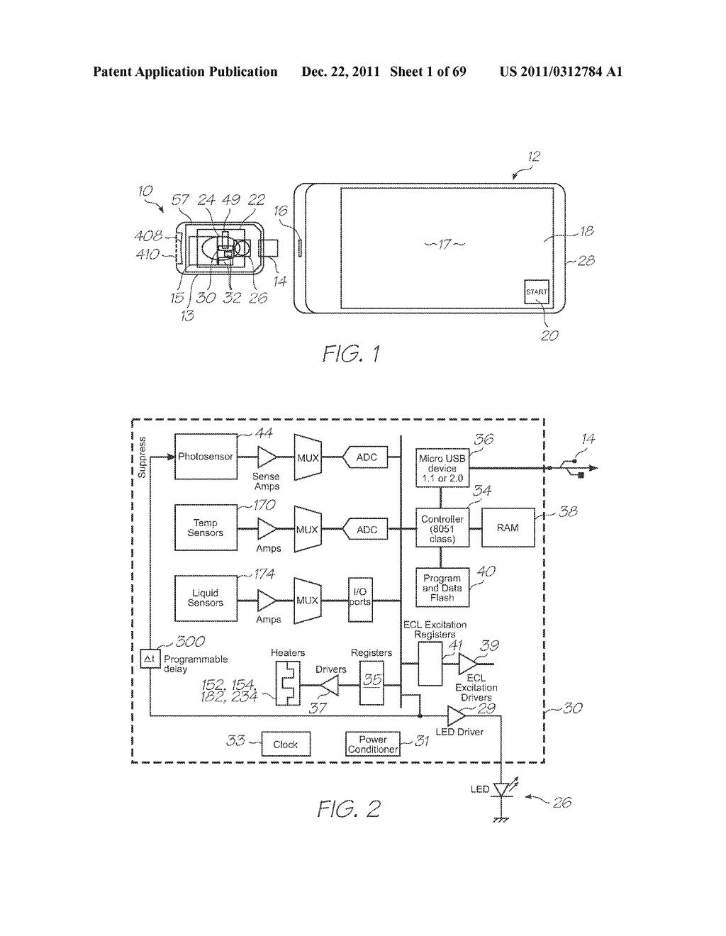 MICROFLUIDIC DEVICE FOR DETECTING TARGETS WITH PROBES, DETECTION     PHOTODIODES AND A CALIBRATION PHOTODIODE - diagram, schematic, and image 02