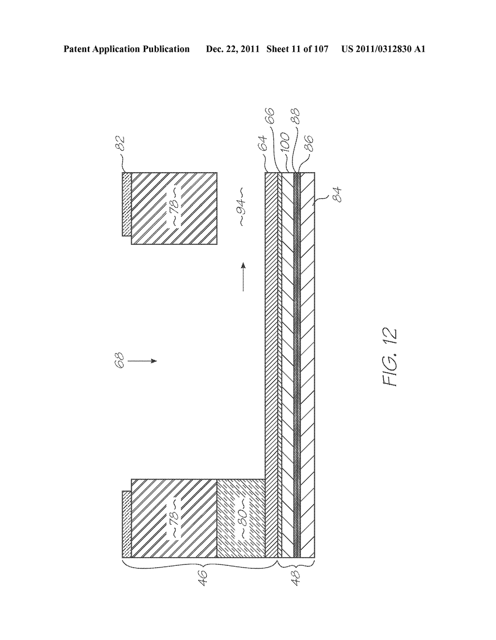 GENETIC ANALYSIS LOC DEVICE WITH ELECTROCHEMILUMINESCENT PROBES HAVING A     FUNCTIONAL MOIETY FOR QUENCHING PHOTON EMISSIONS CONFIGURED TO CHANGE     PROXIMITY TO A LUMINOPHORE UPON FORMING A PROBE-TARGET HYBRID - diagram, schematic, and image 12