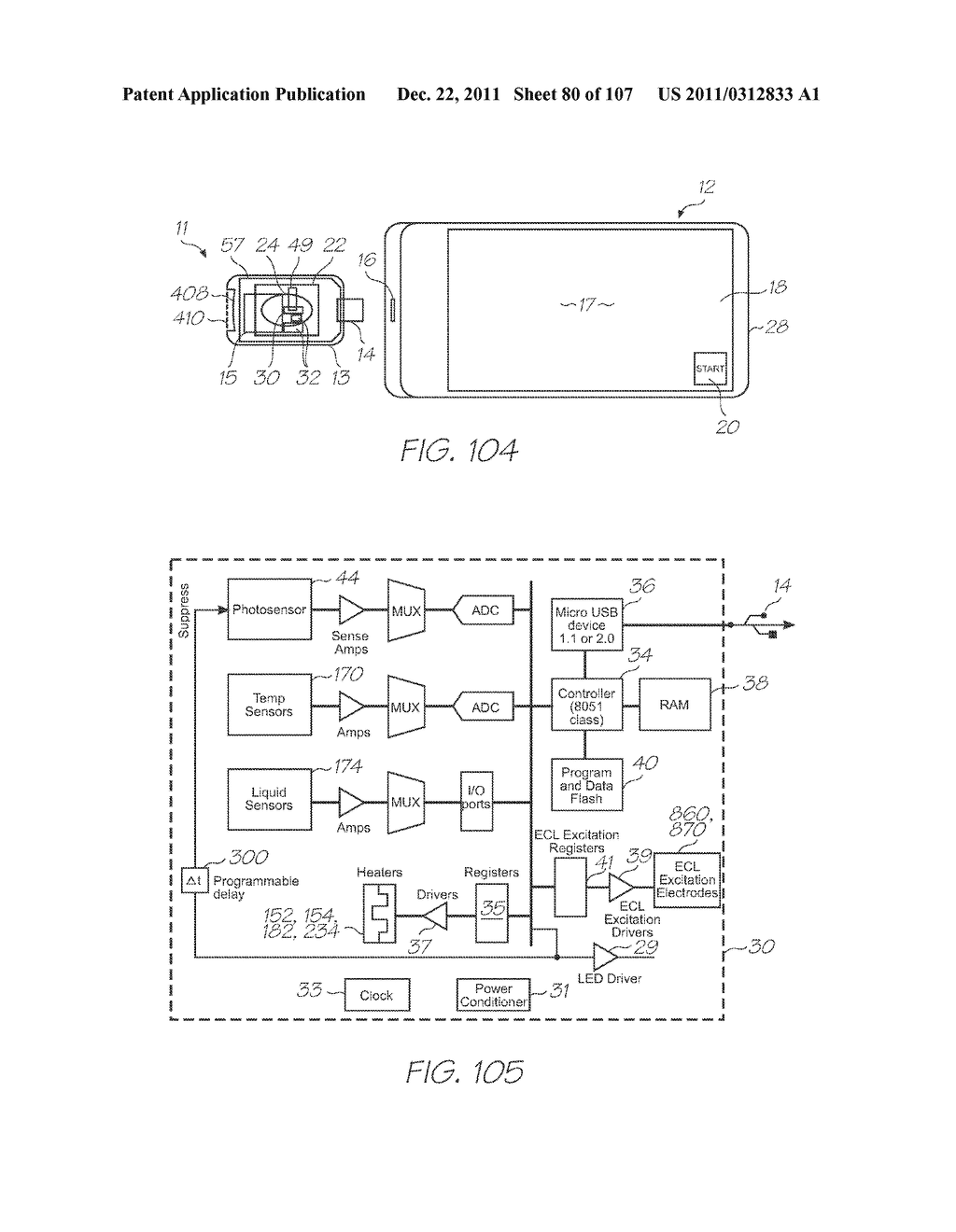 LOC DEVICE FOR ELECTROCHEMILUMINESCENT DETECTION OF TARGET SEQUENCES USING     TRANSPARENT ELECTRODES - diagram, schematic, and image 81
