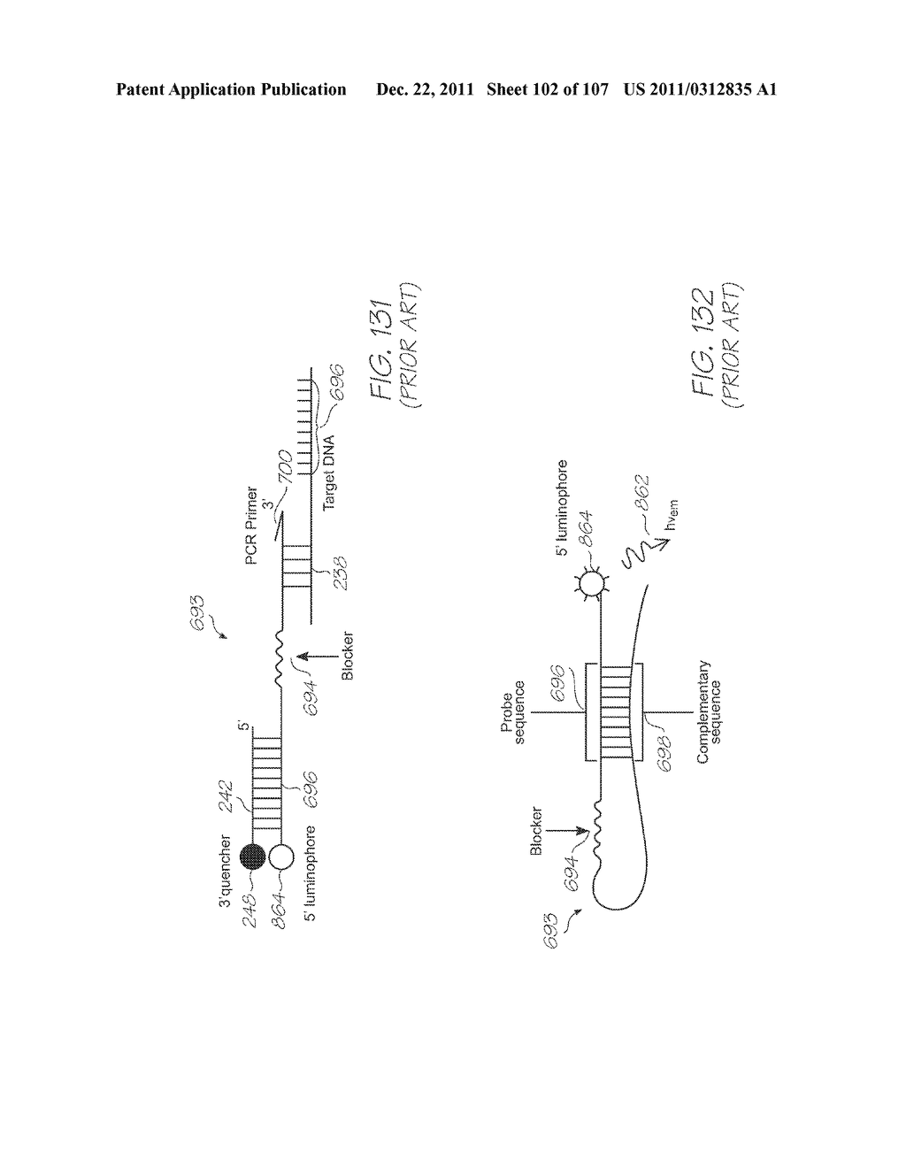 GENETIC ANALYSIS LOC DEVICE WITH ELECTROCHEMILUMINESCENT PROBES AND     INTEGRATED PHOTOSENSOR FOR DETECTION OF TARGET SEQUENCES - diagram, schematic, and image 103