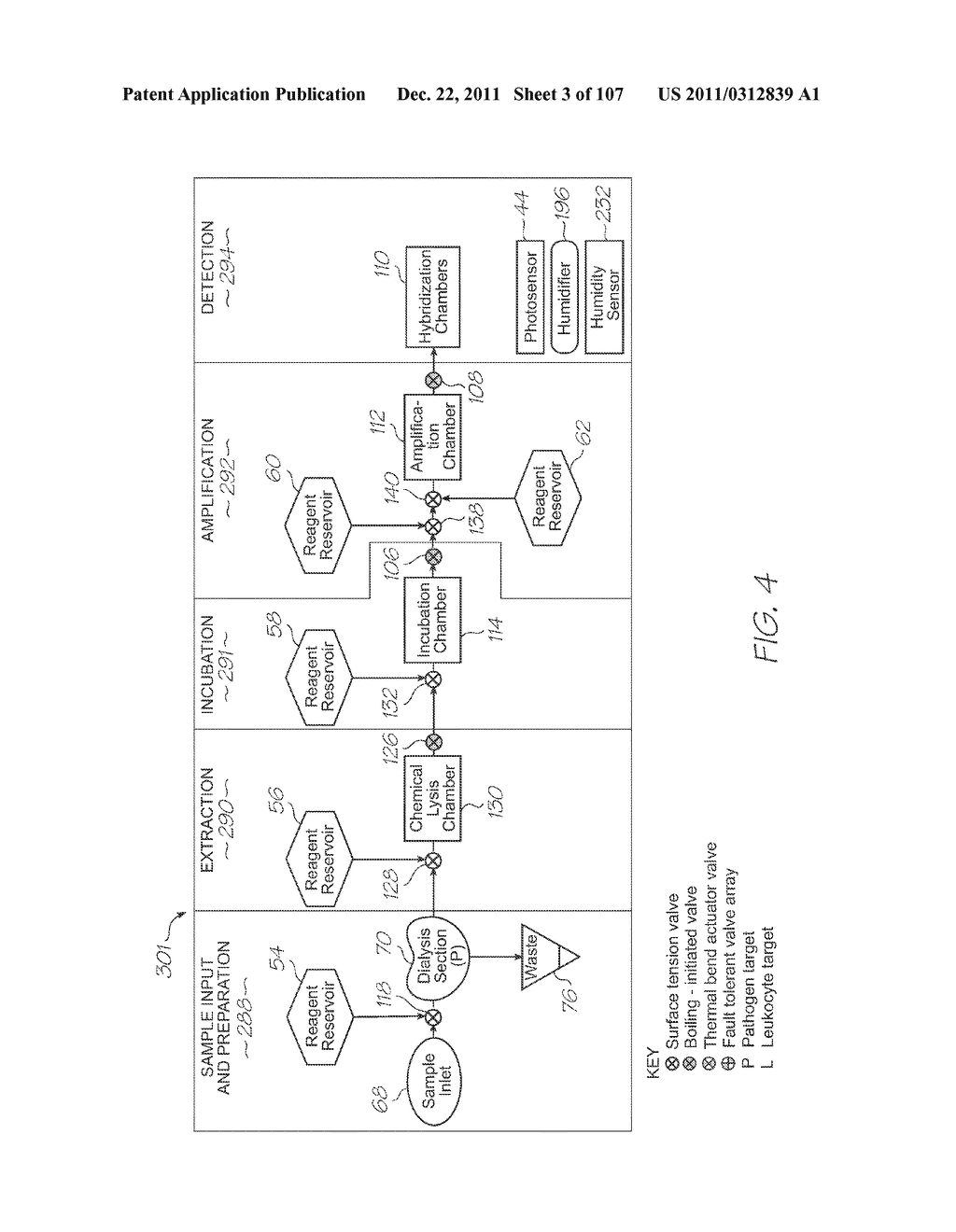 GENETIC ANALYSIS LOC DEVICE FOR ELECTROCHEMILUMINESCENT DETECTION OF     TARGET SEQUENCES WITH WORKING ELECTRODE IN CONTACT WITH PHOTOSENSOR - diagram, schematic, and image 04