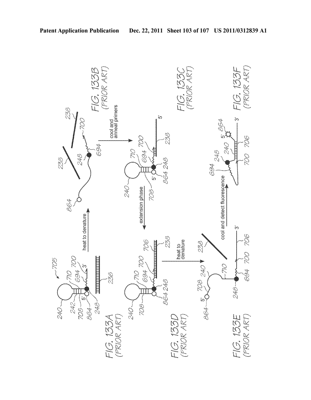 GENETIC ANALYSIS LOC DEVICE FOR ELECTROCHEMILUMINESCENT DETECTION OF     TARGET SEQUENCES WITH WORKING ELECTRODE IN CONTACT WITH PHOTOSENSOR - diagram, schematic, and image 104