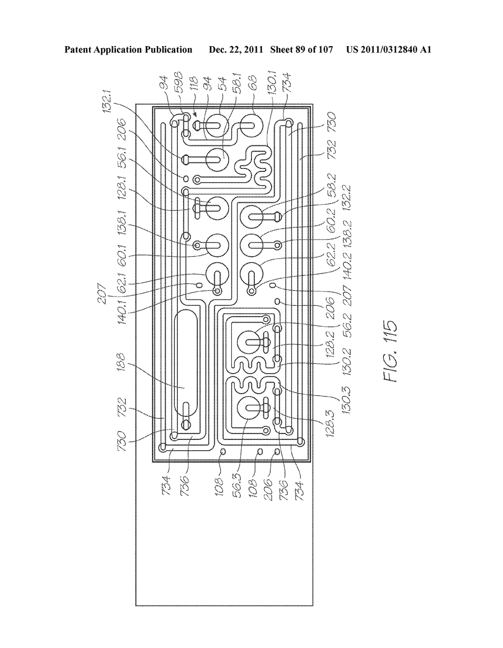 MICROFLUIDIC DEVICE WITH SAMPLE INLET, ELECTROCHEMILUMINESCENT PROBES AND     INTEGRATED PHOTOSENSOR FOR DETECTION OF TARGET SEQUENCES - diagram, schematic, and image 90