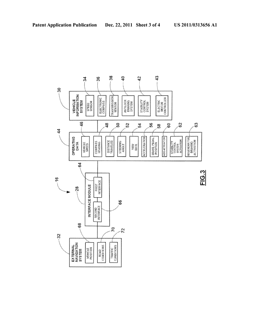 SYSTEM AND METHOD FOR TRANSFERRING VEHICLE OPERATING DATA TO AN EXTERNAL     NAVIGATION SYSTEM - diagram, schematic, and image 04