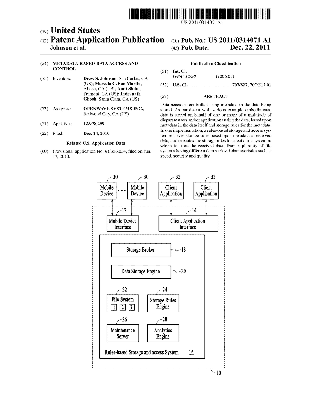 METADATA-BASED DATA ACCESS AND CONTROL - diagram, schematic, and image 01