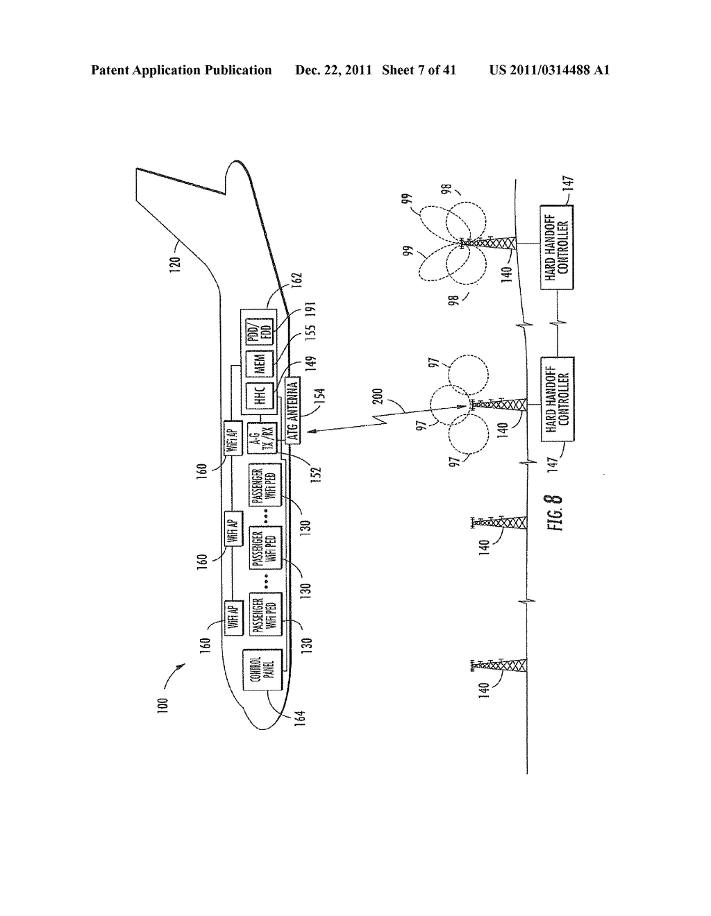 AIRCRAFT IFE SYSTEM INTERFACING WITH A PERSONAL ELECTRONIC DEVICE (PED)     FOR REDEEMING AN IN-FLIGHT COUPON AND ASSOCIATED METHODS - diagram, schematic, and image 08