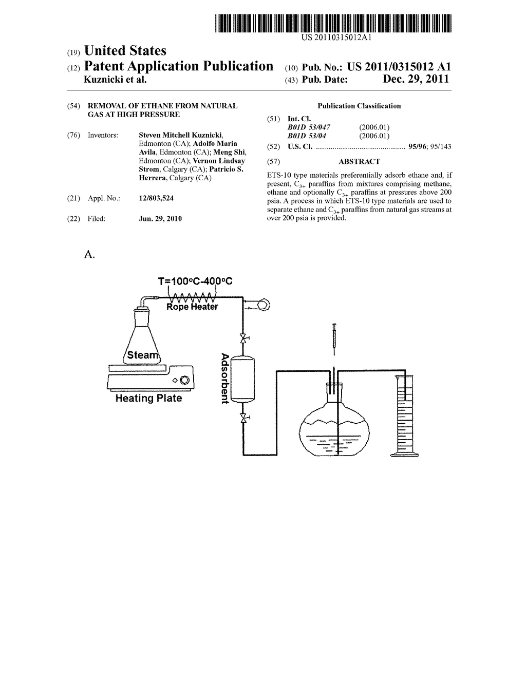 Removal of ethane from natural gas at high pressure - diagram, schematic, and image 01