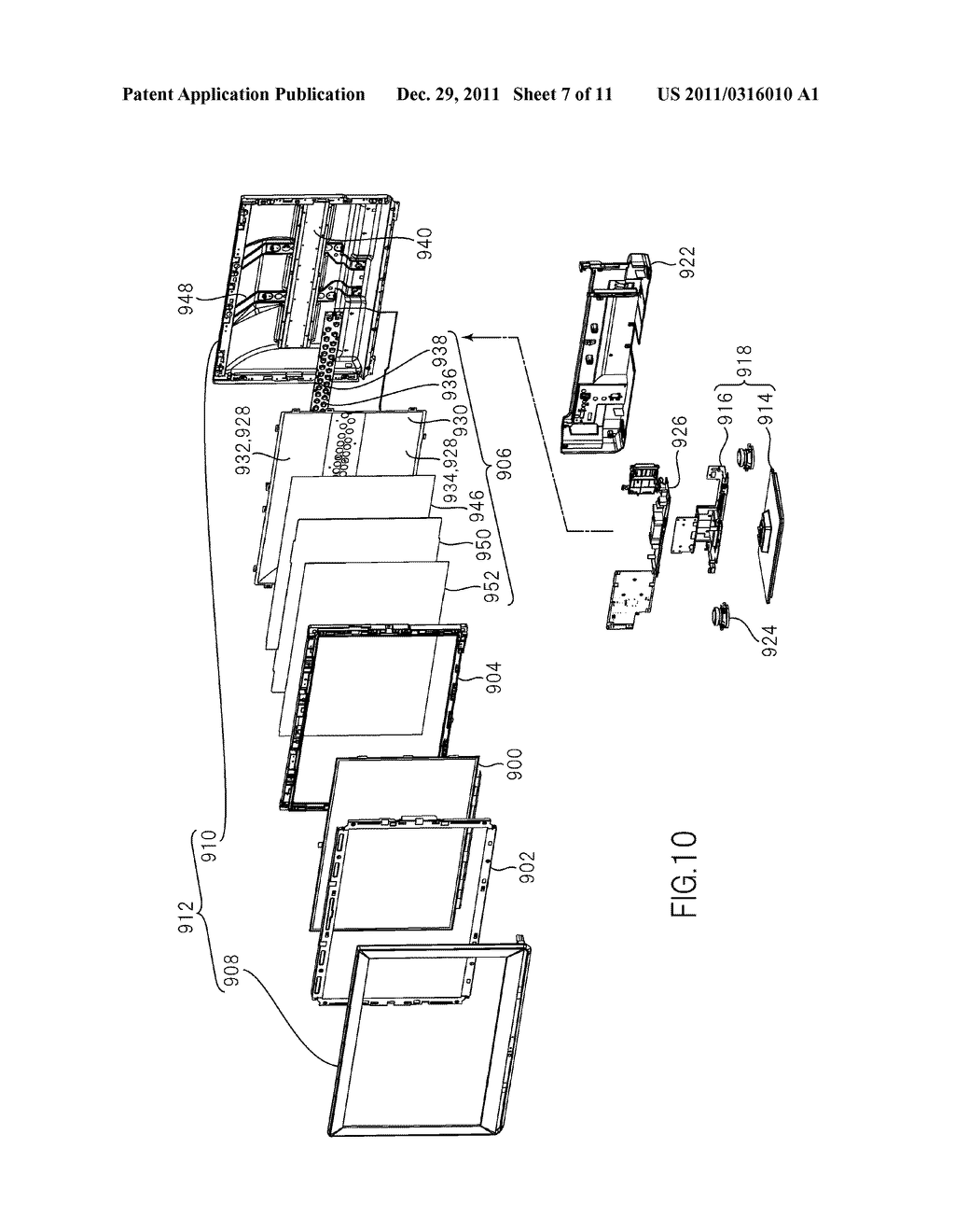 LIQUID CRYSTAL DISPLAY DEVICE AND TELEVISION SET - diagram, schematic, and image 08