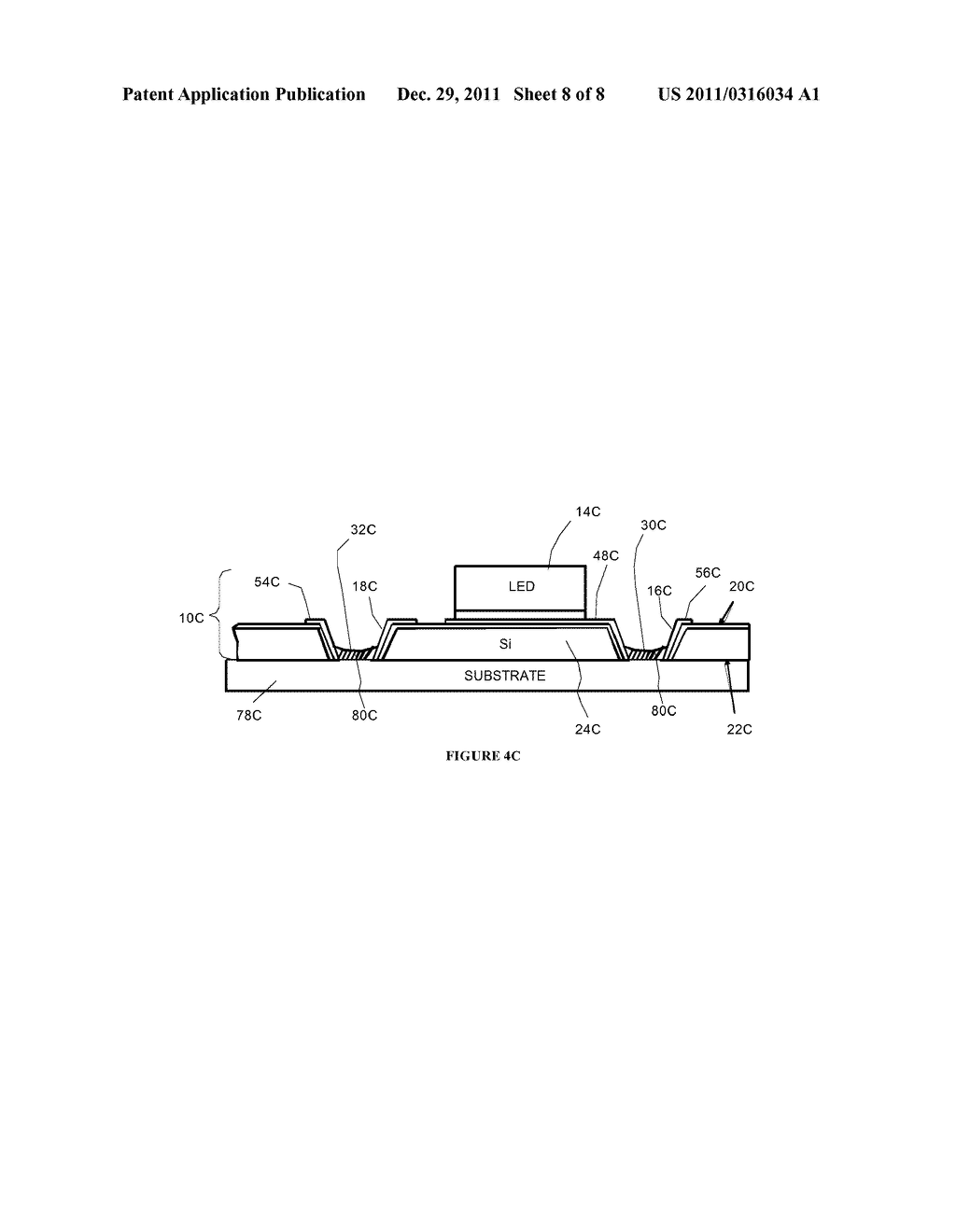 Side By Side Light Emitting Diode (LED) Having Separate Electrical And     Heat Transfer Paths And Method Of Fabrication - diagram, schematic, and image 09