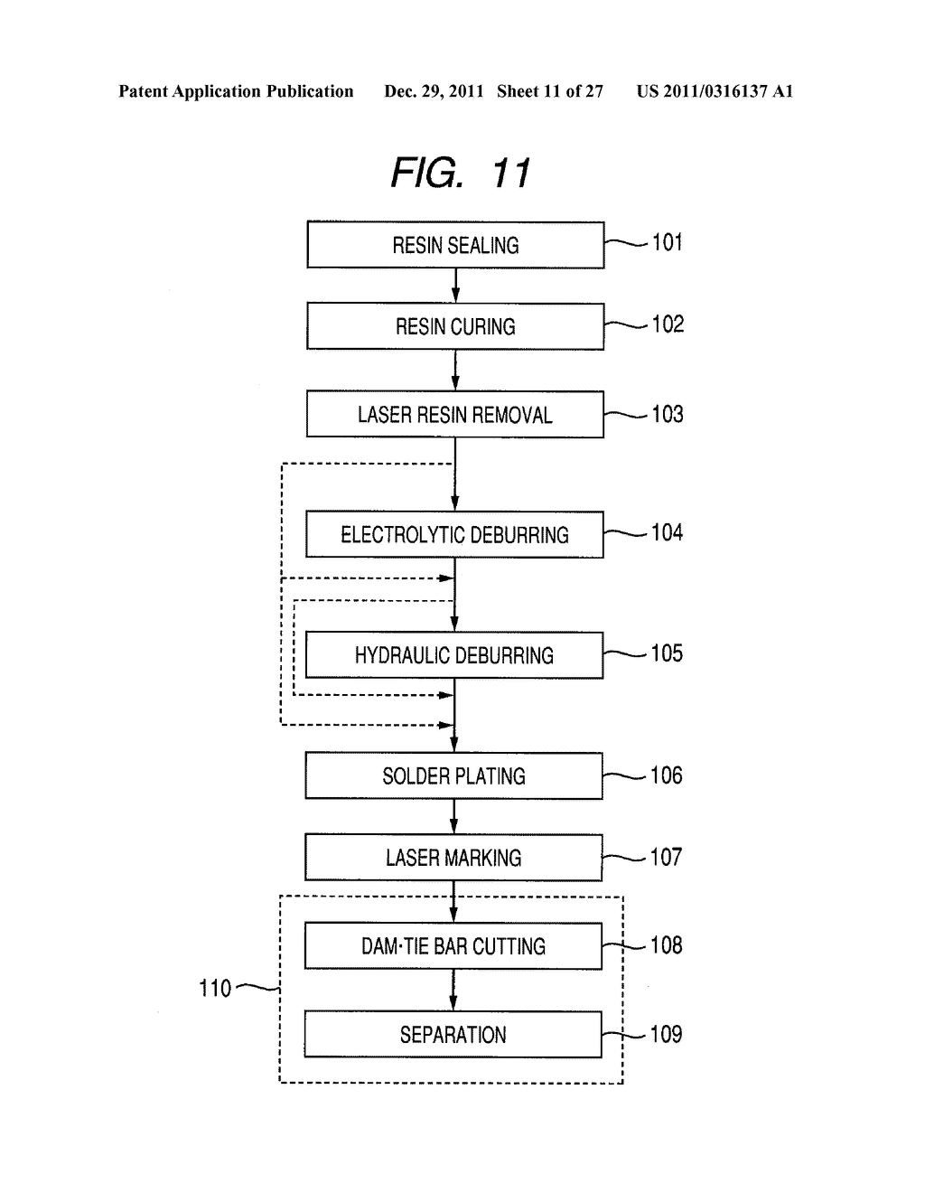 METHOD FOR MANUFACTURING A SEMICONDUCTOR INTEGRATED CIRCUIT DEVICE - diagram, schematic, and image 12