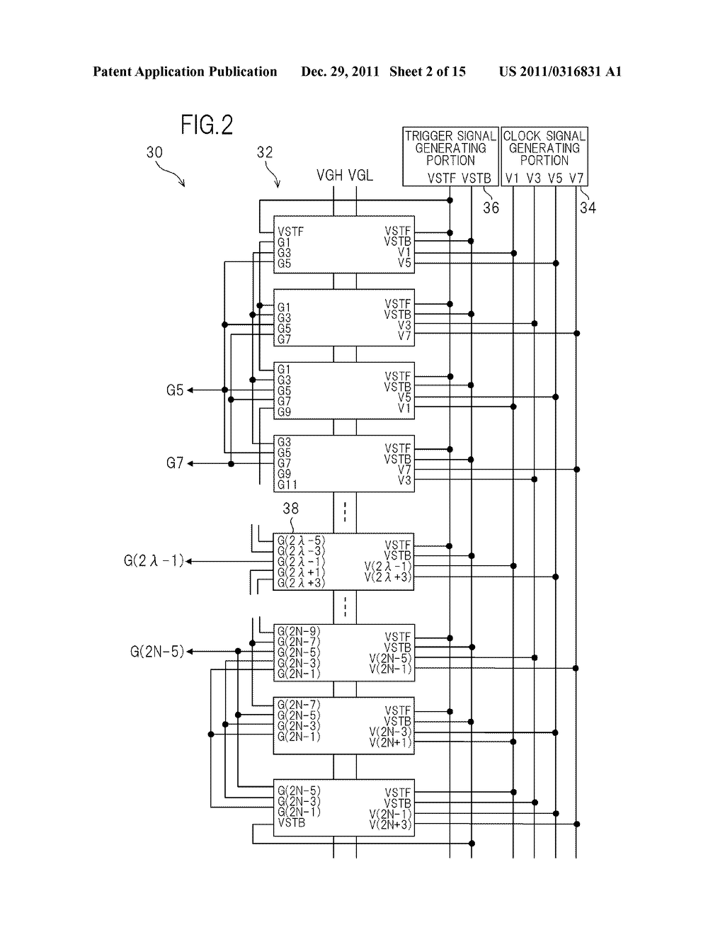 BIDIRECTIONAL SHIFT REGISTER AND IMAGE DISPLAY DEVICE USING THE SAME - diagram, schematic, and image 03