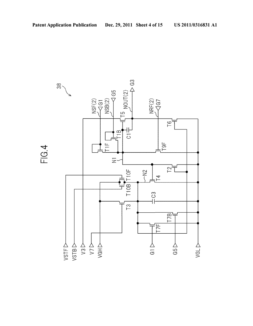 BIDIRECTIONAL SHIFT REGISTER AND IMAGE DISPLAY DEVICE USING THE SAME - diagram, schematic, and image 05