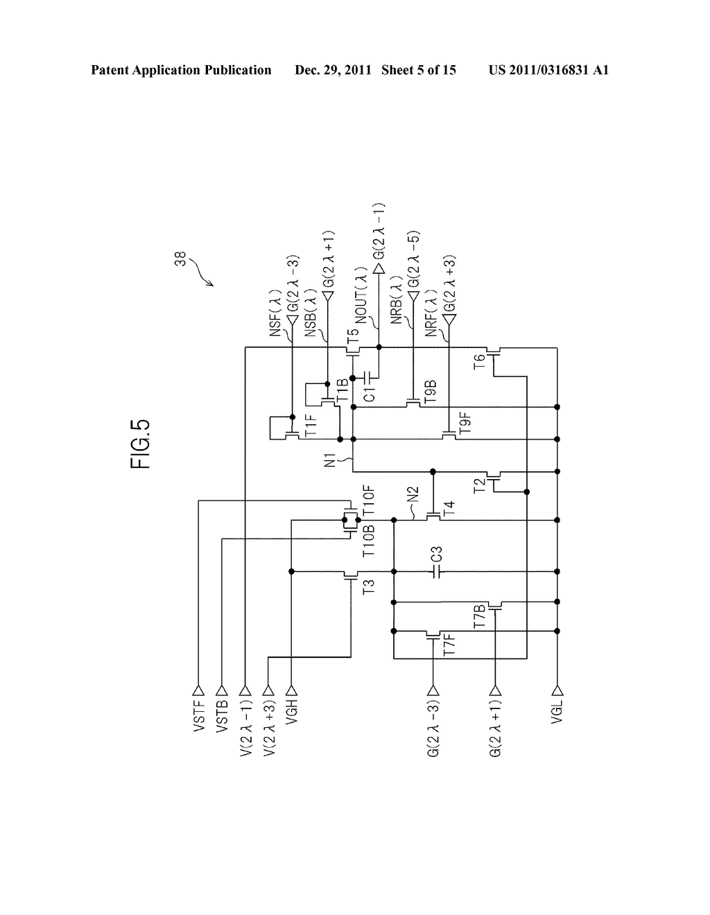 BIDIRECTIONAL SHIFT REGISTER AND IMAGE DISPLAY DEVICE USING THE SAME - diagram, schematic, and image 06