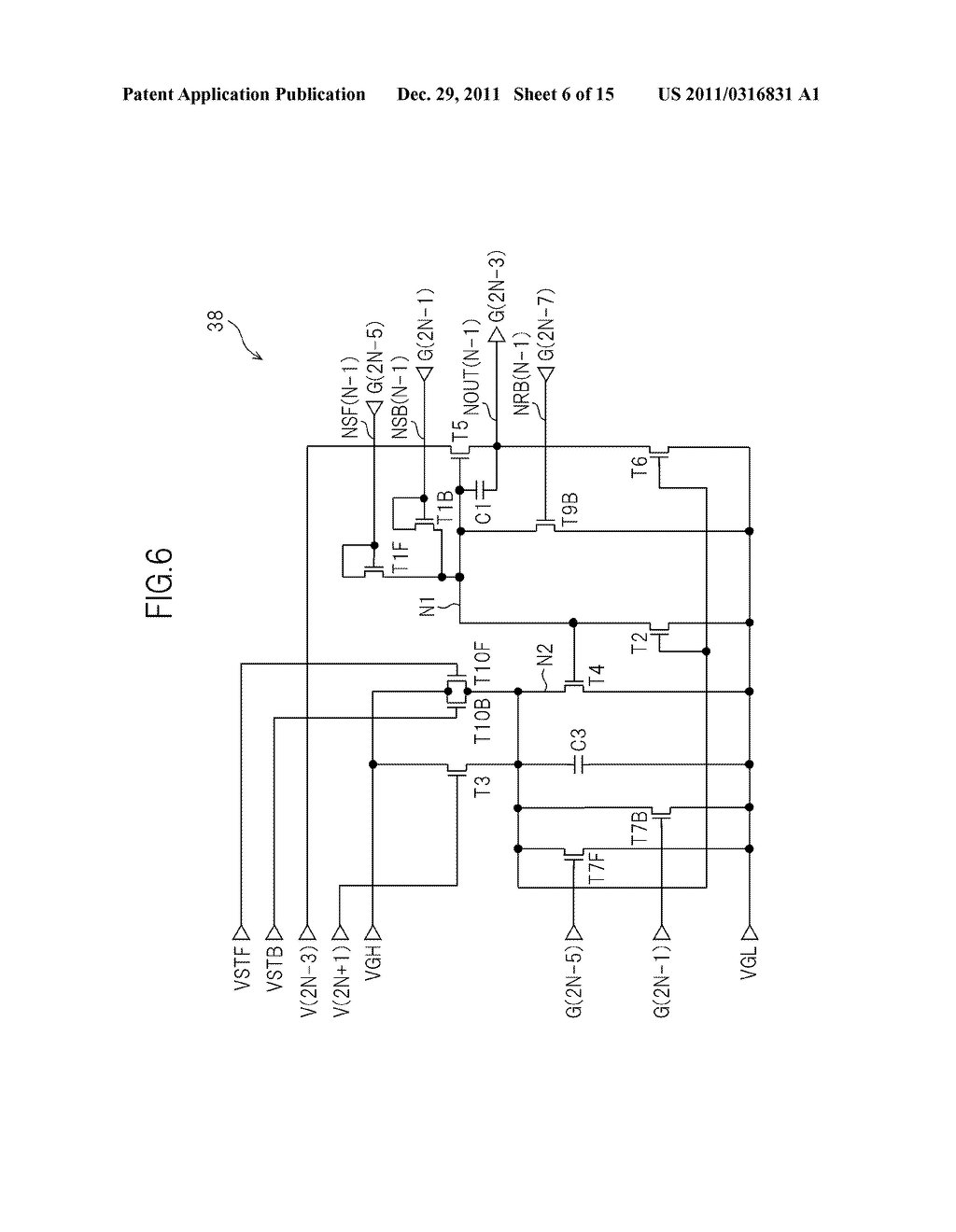 BIDIRECTIONAL SHIFT REGISTER AND IMAGE DISPLAY DEVICE USING THE SAME - diagram, schematic, and image 07