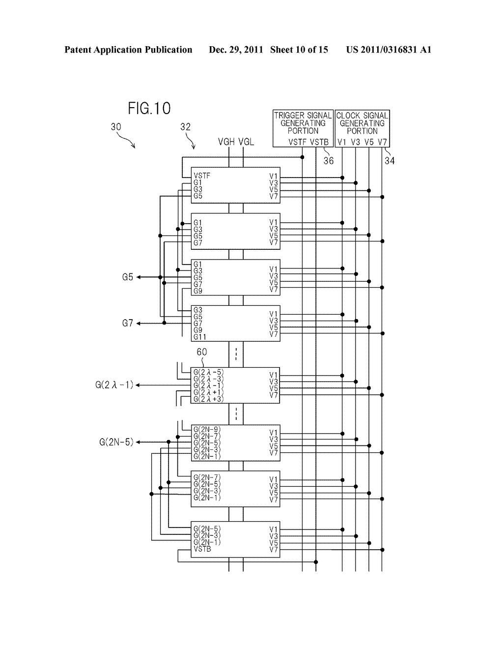 BIDIRECTIONAL SHIFT REGISTER AND IMAGE DISPLAY DEVICE USING THE SAME - diagram, schematic, and image 11