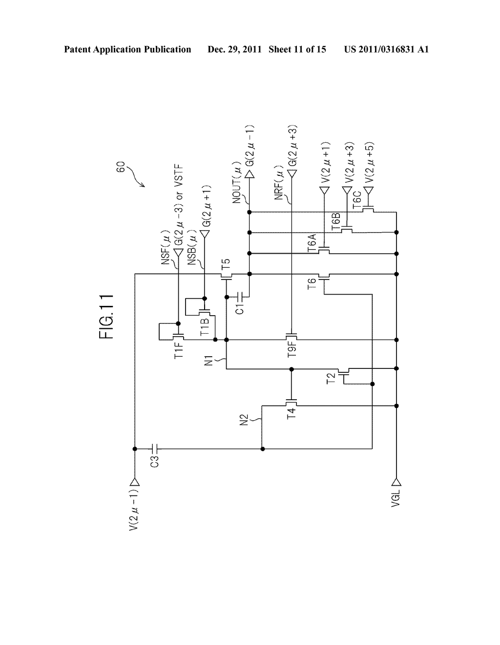 BIDIRECTIONAL SHIFT REGISTER AND IMAGE DISPLAY DEVICE USING THE SAME - diagram, schematic, and image 12