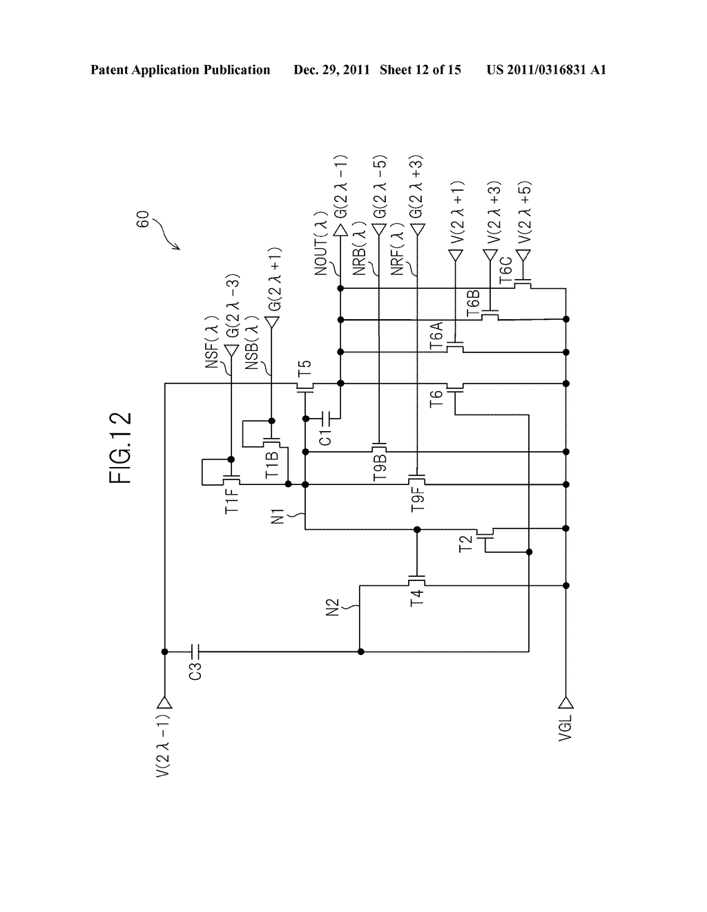 BIDIRECTIONAL SHIFT REGISTER AND IMAGE DISPLAY DEVICE USING THE SAME - diagram, schematic, and image 13