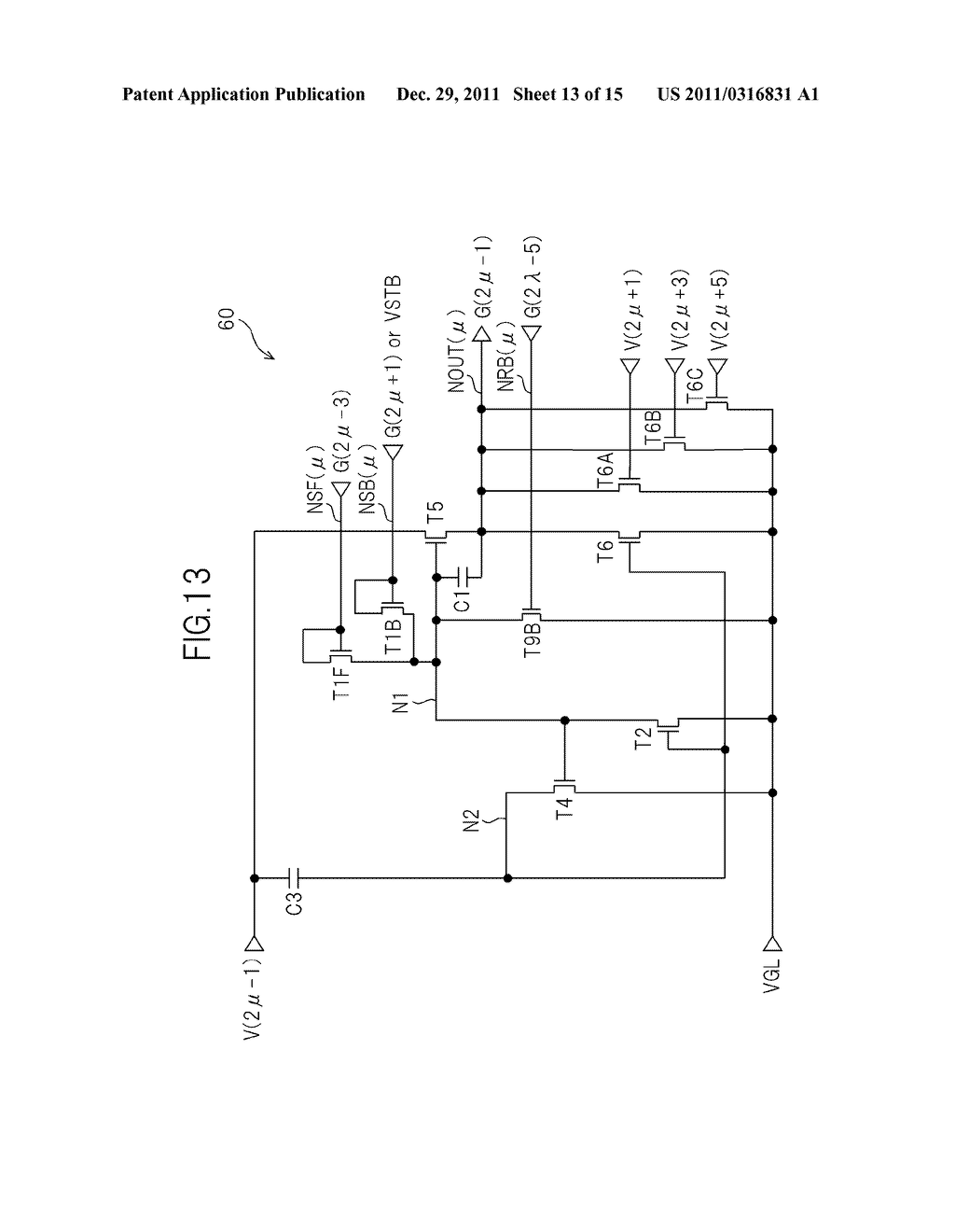 BIDIRECTIONAL SHIFT REGISTER AND IMAGE DISPLAY DEVICE USING THE SAME - diagram, schematic, and image 14
