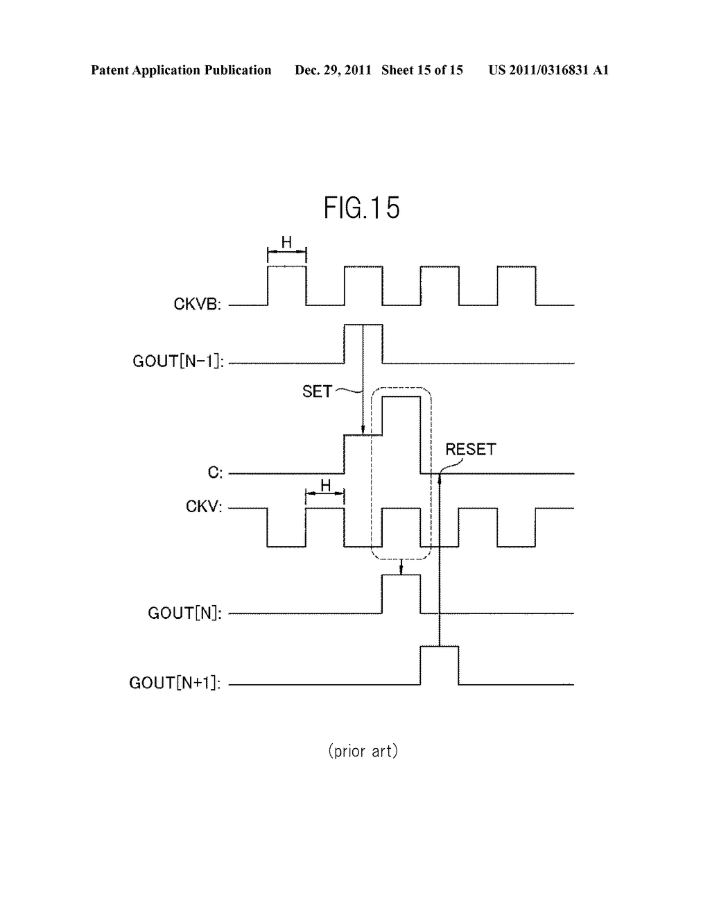 BIDIRECTIONAL SHIFT REGISTER AND IMAGE DISPLAY DEVICE USING THE SAME - diagram, schematic, and image 16